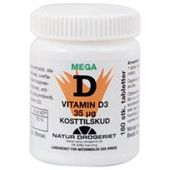 Mega D 3 Vitamin 35 mcg. 180 Tabletter